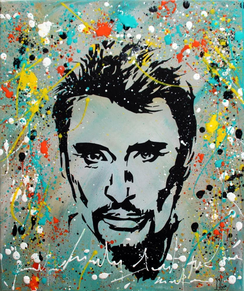 Johnny Hallyday by aquarelle-autrement